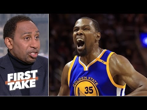 'You don't have a chance' against the Warriors if KD is aggressive - Stephen A. | First Take