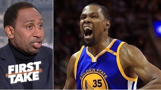 'You don't have a chance' against the Warriors if KD is aggressive - Stephen A. | First Take thumbnail