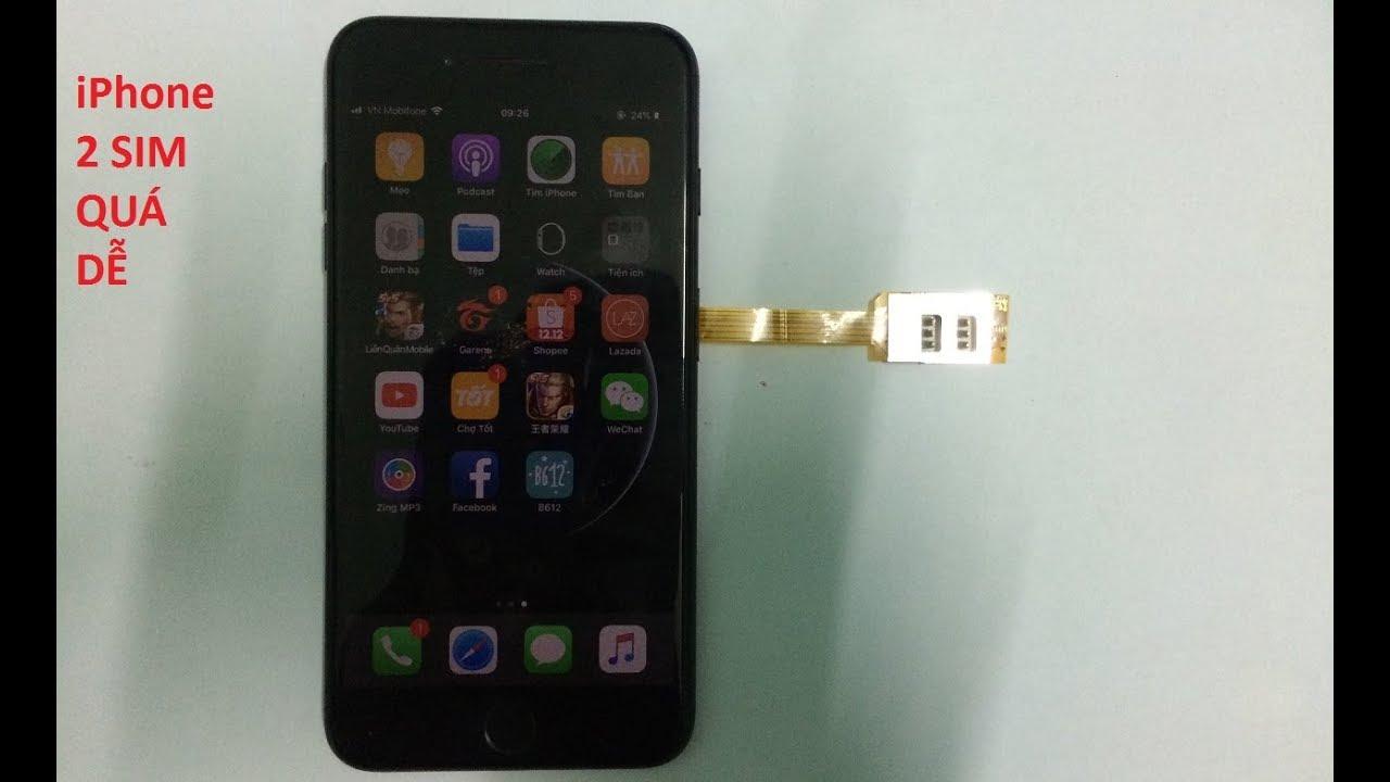 Phụ kiện hỗ trợ iPhone 2 sim biến điện thoại 1 sim thành 2 sim phù hợp android và ios