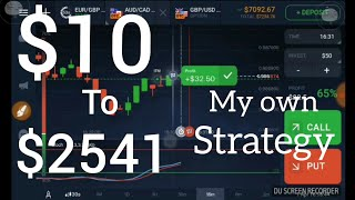 IQ Option | $10 to $2541 | My brilliant strategy