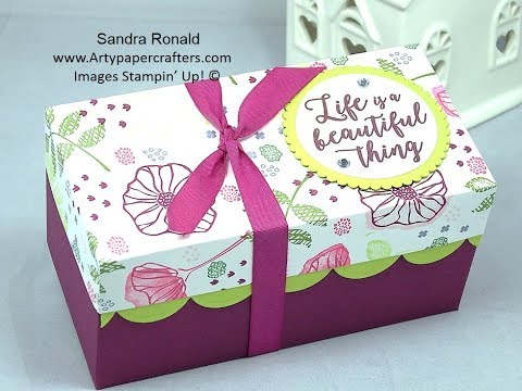 Handmade GIFT BOX for TALL Candle SandraR Stampin' Up! Demonstrator Independent