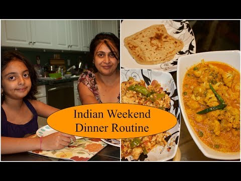 Indian Weekend Dinner Routine | What Indian Food I Eat For Dinner | Simple Living Wise Thinking
