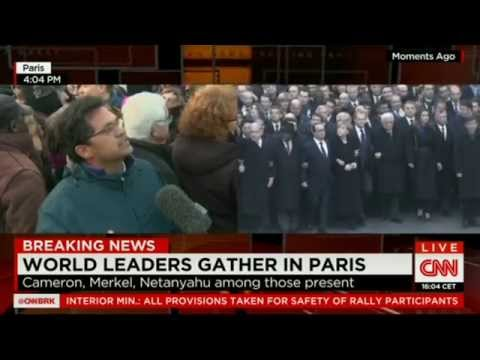 World leaders walk in 'unity rally' in France (11/01/2015)