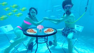 UNDERWATER DATE WITH RICEGUM!!