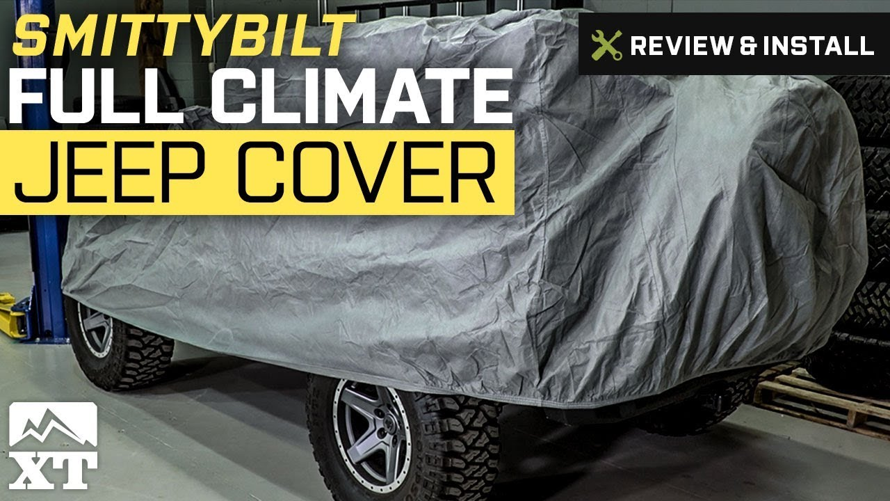 af86f7ad30 Jeep Wrangler Smittybilt Full Climate Jeep Cover (2007-2017 JK) Review &  Install
