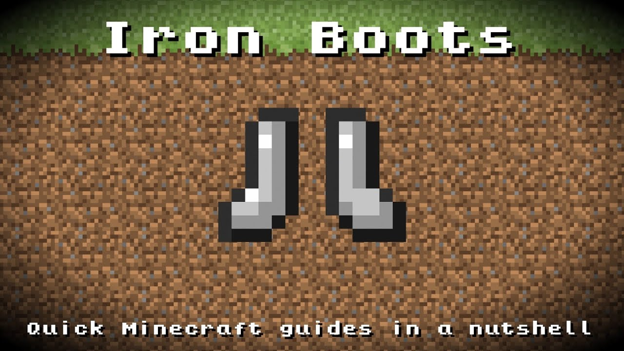Minecraft - Iron Boots! Recipe, Item ID, Information! *Up ...