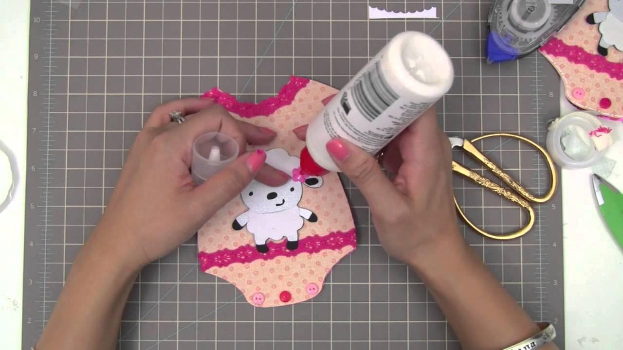 Baby Onesie Card Tutorial Youtube