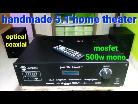 51 amplifier hand made homethetear optical coaxial  Dol digital sound  mosfet 500w mono