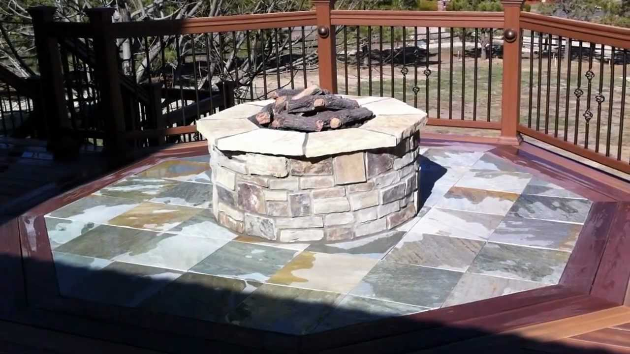 Gas Fire Pit Installation Installing a Gas Fire Pit Part 2 ...