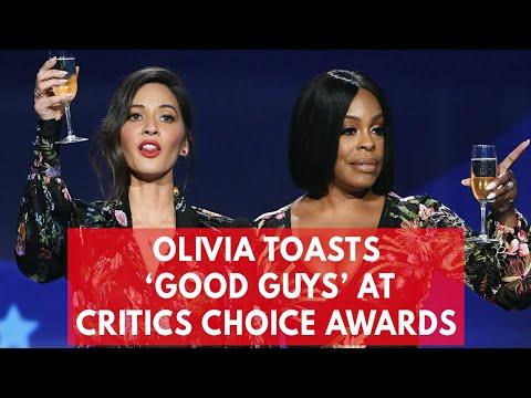 Olivia Munn and Niecy Nash sarcastically toast 'the good guys' at Critics' Choice Awards