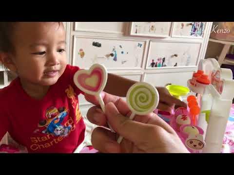 Kenzo Batita Lucu Belajar Dagang dan Berhitung dengan Jari | Ice Cream Playset