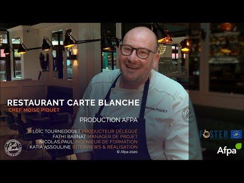 Moïse Piquet, chef du restaurant Carte Blanche, Le Touquet-Plage.