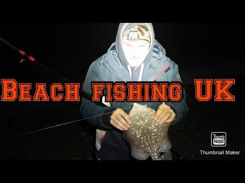 Beach Fishing At Night With A FULL MOON!!!