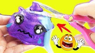 Слайм прячется Зачем испортила игрушку Красивый лизун Poopsie сюрприз Мультик с Единорожками