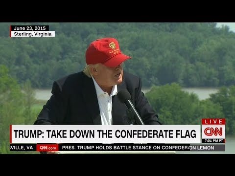 Trump in 2016: Take down the Confederate flag and put it in a museum