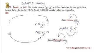 5 sınıf türkçe isim hal durum ekleri konu anlatım