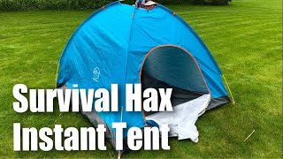 Survival Hax 2 Person Automatic Instant Pop Up Camping Tent review