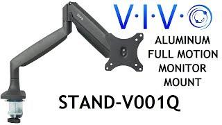 STAND-V001Q  Single Monitor Desk Mount by VIVO