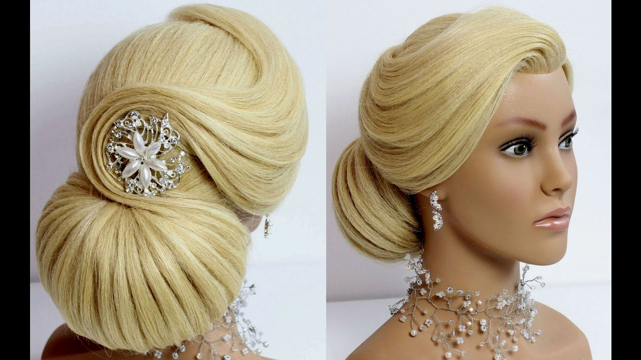 Wedding  prom updo Bridal  hairstyle  for long medium hair