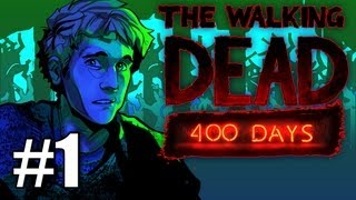 The Walking Dead 400 Days DLC Gameplay / Playthrough w/ SSoHPKC Part 1 - Prison Bus Showdown