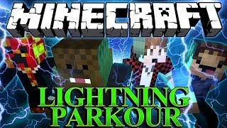 RUN AS FAST AS LIGHTNING in Minecraft (Flash Parkour Map) w/ BajanCanadian, Woofless and TBNRFRAGS