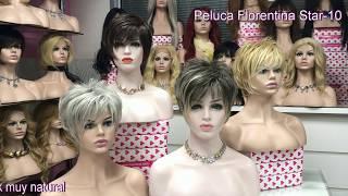 Peluca modelo Florentina, Colores: 51, 6, 27t613, giratorio 8/44f613material colageno