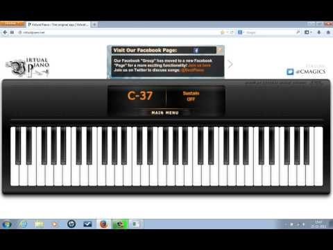 how to use a virtual piano(for beginners)