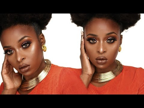 Perfect Fall makeup tutorial for black women