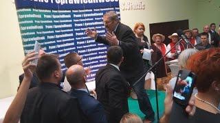 Incydent na spotkaniu z Jarosławem Kaczyńskim - Bielsko-Biała, 19.10.2015