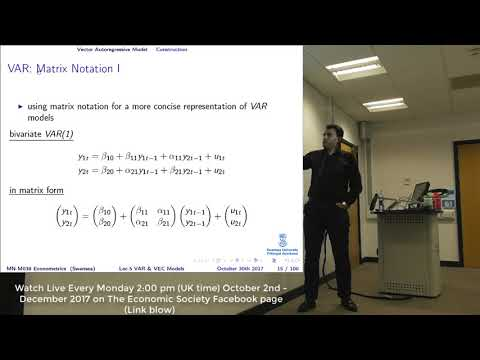 Lecture 5: VAR And VEC Models