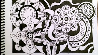Timelapse Drawing: Zentangle Circles