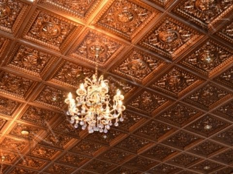 Coffered Faux Tin Ceiling At Quot Elite Royal Quot Restaurant