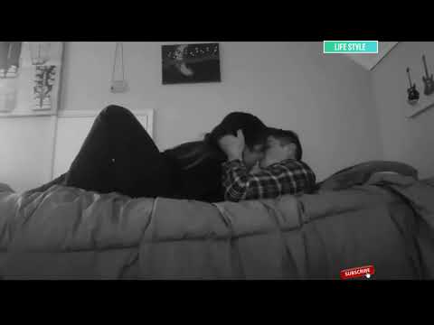 Cute couple kissing and hugging a lot in bed