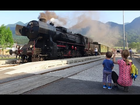 Transalpina Railway - Part 2 - Steam in Slovenia, including driver's eye views