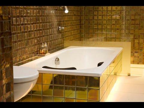 Золотой цвет в ванной комнате