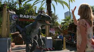Jurassic Park's Ariana Richards at Universal's Raptor Encounter