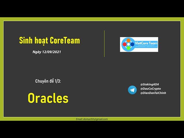 Chuyên đề Oracle | Họp nhóm Vietcore Team (1/3)