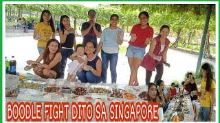 BOODLE FIGHT IN SINGAPORE    FILIPINO FOOD    KAMAYAN NA😋 - Dally Andrada