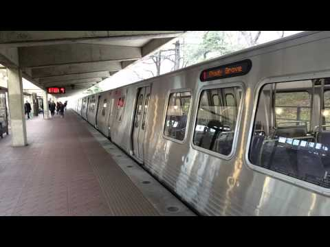 D.C. Metro 7000 series Red Line train at White Flint station