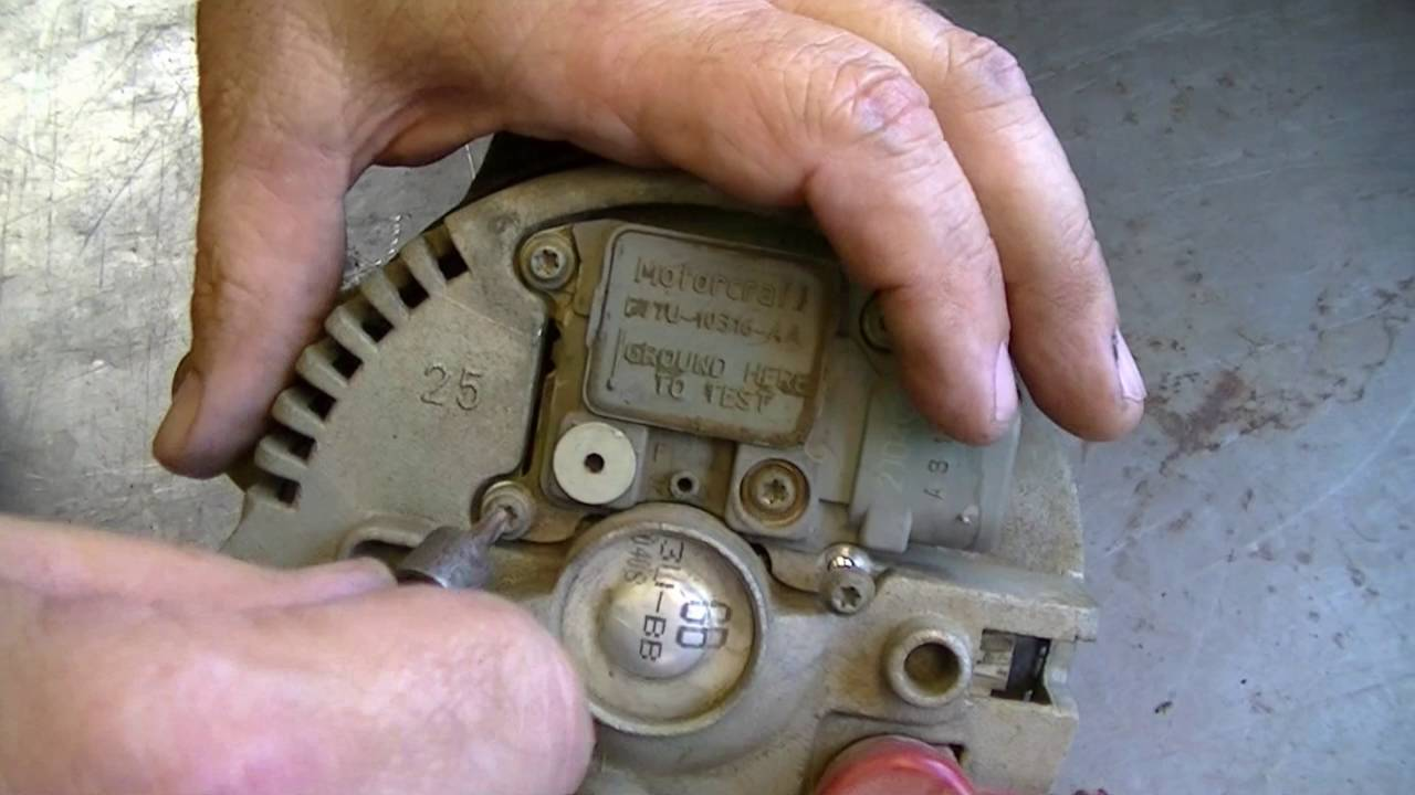 How To Replace Voltage Regulator Brush Assembly On Alternator Youtube Ford F 150 Wiring Diagram 1972 V8