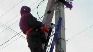 Монтаж СИП-кабеля(, 2012-01-06T07:47:32.000Z)