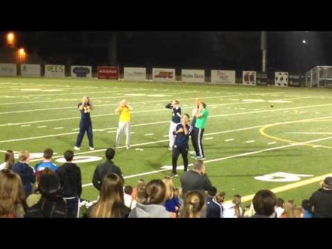 Chattanooga Christian School powder puff night 2014. Senior cheer routine.
