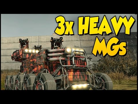 Crossout ➤ Triple Heavy Machinegun Build - This Thing Rocks! [Crossout Gameplay]