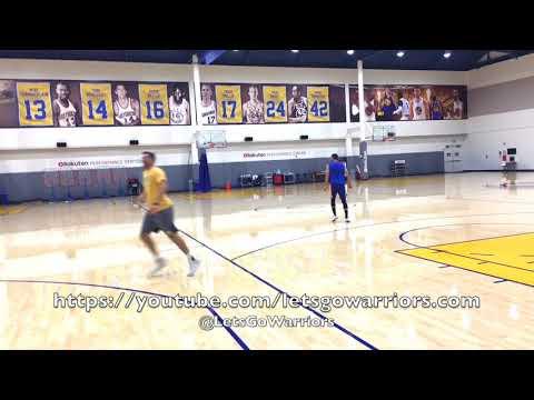 STEPH CURRY KICKS A BASKETBALL INTO A HOOP! (HD version) Goooooooaaaaaaaalllll