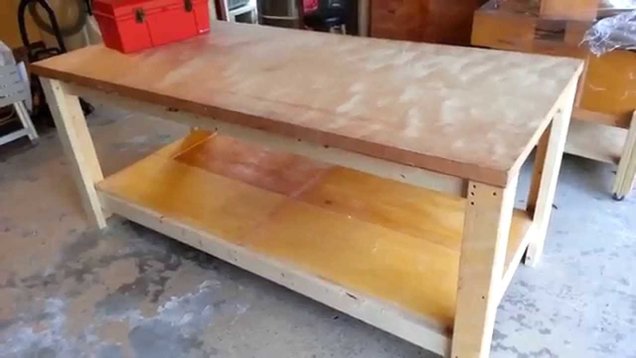 Building a Heavy Duty Workbench - YouTube