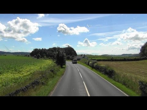 Ayr - Dumfries 246 bus ride video part 3. Thornhill - Dumfries