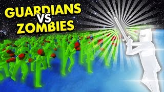 TABS - GUARDIANS VS ZOMBIES! ZOMBIE HORDE! (Totally Accurate Battle Simulator Funny Gameplay)
