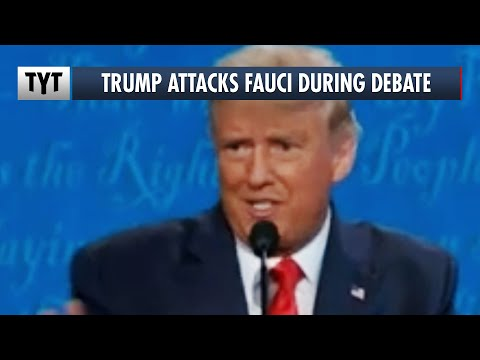 Trump's SALTY ATTACK on Dr. Fauci During Final Presidential Debate