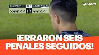 ¡ERRARON 6 PENALES SEGUIDOS! Terrible definición entre Argentinos y San Martín de Tucumán