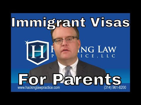 Special issues with immigrant visas for parents